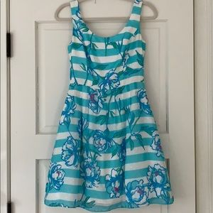 Lilly Pulitzer Blue Floral Dress